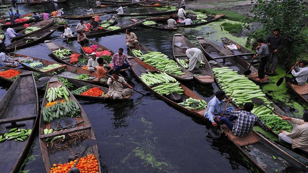 Floating Vegetable Market, Srinagar