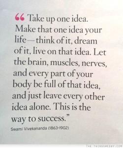 one idea