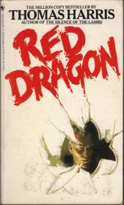 Red Dragon, (Mar 1987, Thomas Harris, publ. Bantam Books, 0-553-26485-0, $4.50, 354pp, pb) Cover - Hiram Richardson