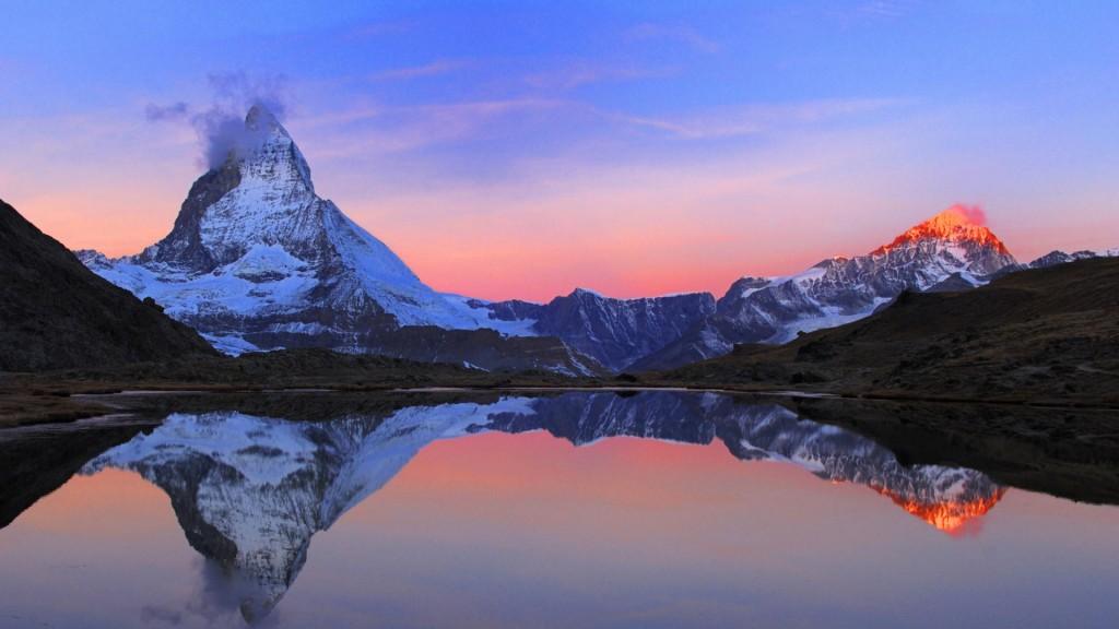break of dawn at Matterhorn, Switzerland, Zermatt