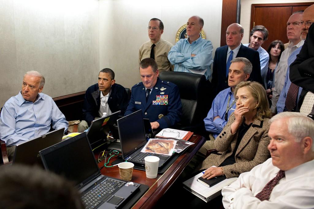 Obama and Biden await updates on osama bin Laden