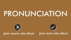 correct pronunciation of words