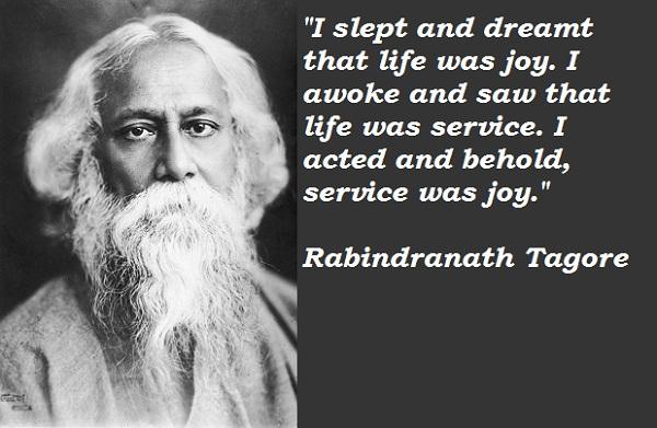 Inspiring Rabindra Nath Tagore Quotes