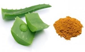 Aloe-vera and Turmeric