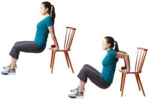Chair Dip To Reduce Arm Fat at Home