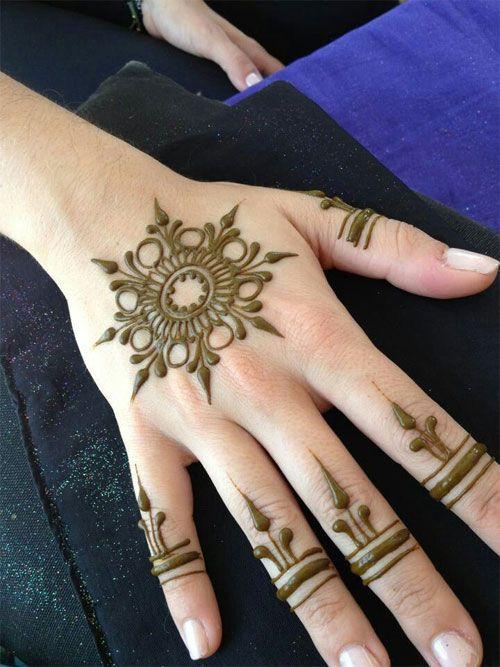 Floral Mandala Mehendi Design
