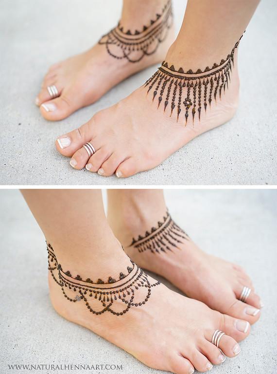 Anklet Mehendi Design Images