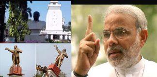 Modi Disapproves vandalism of BJP