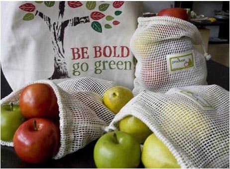 Use reusable produce bags