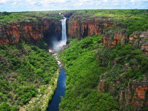 waterfall of kukadu national park