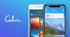 Calm app - Self-care apps